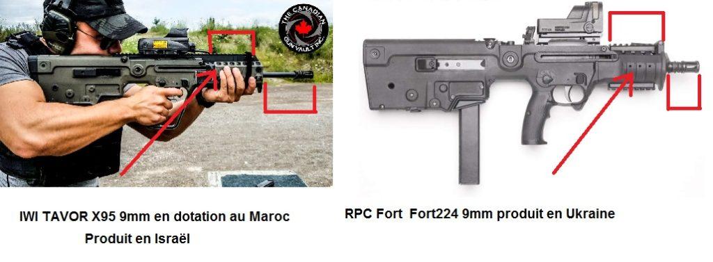 المغرب يرد على تقرير ظهور أسلحة إسرائيلية في استعراض عسكري Comparatifforttavor-1-1024x377